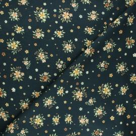 Dear Stella cotton fabric Little fawn & friends - dark green Bouquets x 10cm
