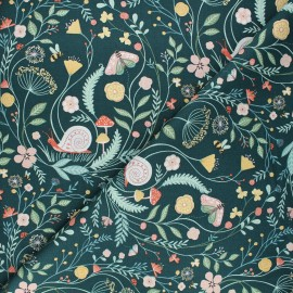 Dear Stella cotton fabric Frond of you - dark green Wet your plants x 10cm