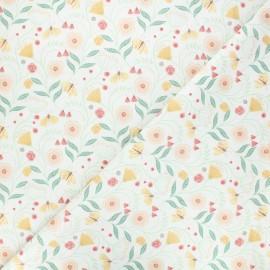 Tissu coton Dear Stella Frond of you - You grow girl - écru x 10cm
