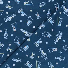 Tissu coton Dear Stella Get loaded - Heavy metal - bleu pétrole x 10cm