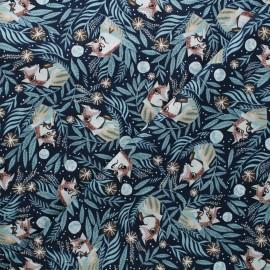 Tissu coton Dear Stella Starstuff - Foxy - bleu nuit x 10cm
