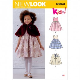 Ceremonial Dress Sewing Pattern for Kids - New Look 6631