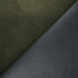 Tissu polyester envers cuir recyclé Pawnee - vert foncé x 10cm