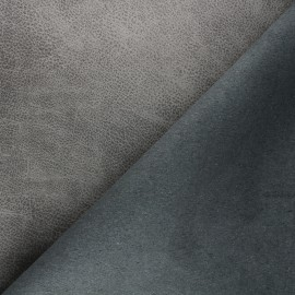 Recycled leather - grey Pawnee x 10cm
