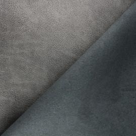Tissu polyester envers cuir recyclé Pawnee - gris x 10cm