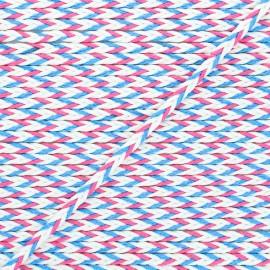 7mm Braided cord - pink/blue Vivia x 1m