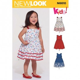 Summer Dress Sewing Pattern for Kids - New Look 6610