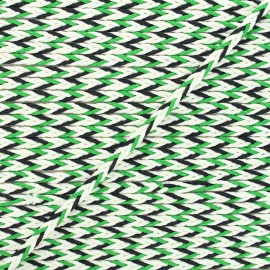 7mm Braided cord - green/black Vivia x 1m