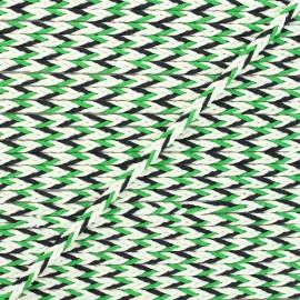 Cordon tressé Vivia 7mm - vert/noir x 1m