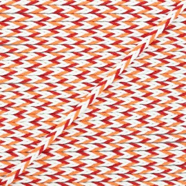 7mm Braided cord - red/orange Vivia x 1m