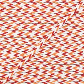 Cordon tressé Vivia 7mm - rouge/orange x 1m