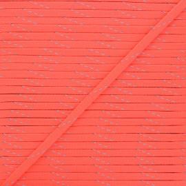 Cordon tressé Fluoria 9mm - rose fluo x 1m