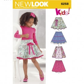 Elastic Skirt Sewing Pattern for Kids - New Look 6258