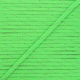 9mm Braided cord - neon green Fluoria x 1m