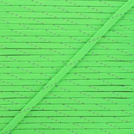 Cordon tressé Fluoria 9mm - vert fluo x 1m