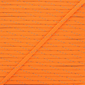 Cordon tressé Fluoria 9mm - orange fluo x 1m