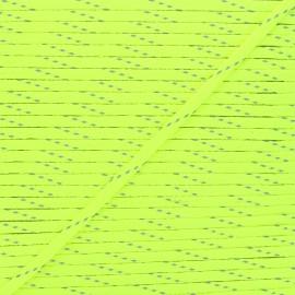 Cordon tressé Fluoria 9mm - jaune fluo x 1m