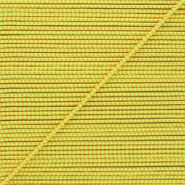 3mm Braided cord - neon yellow Sportivo x 1m