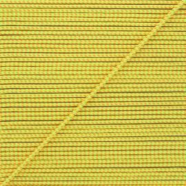 Cordon tressé Sportivo 3mm - jaune fluo x 1m