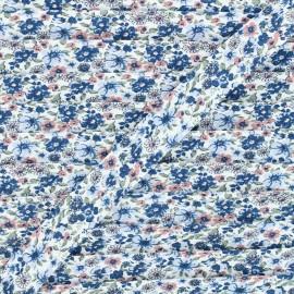 20mm cotton bias binding - blue Fleurs des champs x 1m