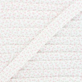 Biais coton Clover flower 20 mm - rose x 1m