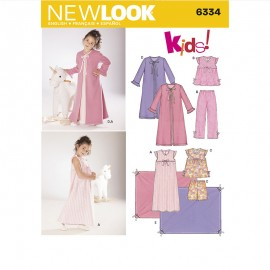 Night Sewing Pattern Set for Kids - New Look 6334