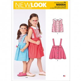 Strap Skirt Sewing Pattern Set for Kids - New Look 6664
