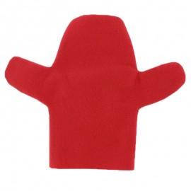 Marionnette feutrine à personnaliser Main - rouge
