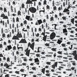 Tissu coton Dear Stella Those who wander - Harvest moon - blanc x 10cm