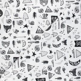 Tissu coton Dear Stella Those who wander - Forest dreaming - blanc x 10cm