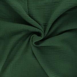 Tissu double gaze de coton MPM - vert foncé x 10cm
