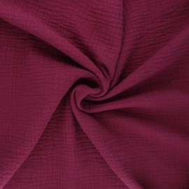 Double cotton gauze fabric MPM - wine x 10cm