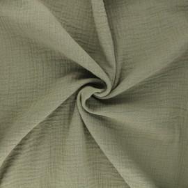 Tissu double gaze de coton MPM - kaki clair x 10cm