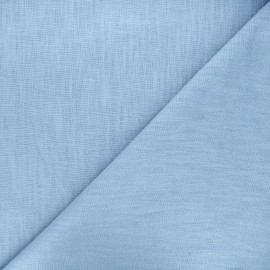 Washed linen (135cm) fabric - bleuet x 10cm