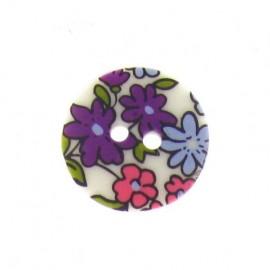 Bouton fleuri violet