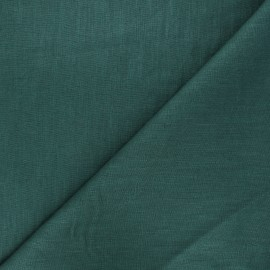 Washed linen (135cm) fabric - pine green x 10cm