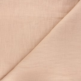 Washed linen (135cm) fabric - soft pink x 10cm