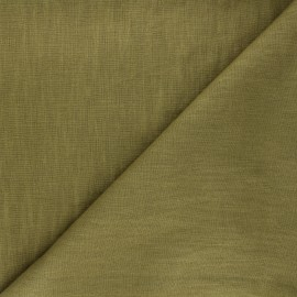 Washed linen (135cm) fabric - olive green x 10cm