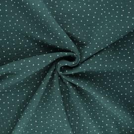 Tissu double gaze de coton Poppy Little Dots - vert sapin x 10cm
