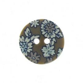 Flowered button - khaki