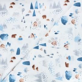 Dear Stella flannel fabric Brave enough to dream - white Dreamscape x 10cm