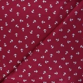 Tissu jersey Passion ancre - violine/argent x 10cm