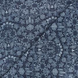 Tissu jeans fluide élasthanne Garden - bleu foncé x 10cm