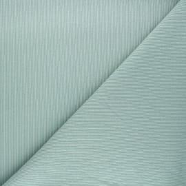 Tissu jersey maille marcel uni - vert sauge x 10cm