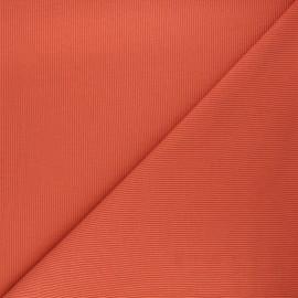 Plain knit jersey fabric - carrot x 10cm