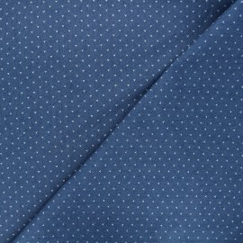 Tissu jeans fluide élasthanne Dotty - bleu x 10cm