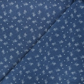 Tissu jeans fluide élasthanne Sylvia - bleu x 10cm