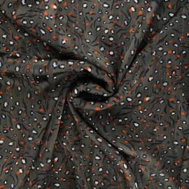 Tissu mousseline lurex Amelina - taupe x 50cm