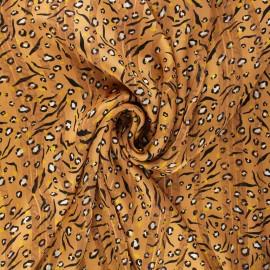 Tissu mousseline lurex Amelina - ocre x 50cm