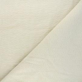 Washed ribbed velvet fabric - raw Cardiff x 10cm